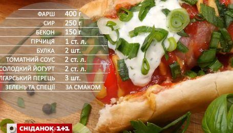 Оригинальный хот-дог с беконом и перцем - Рецепты Сеничкина