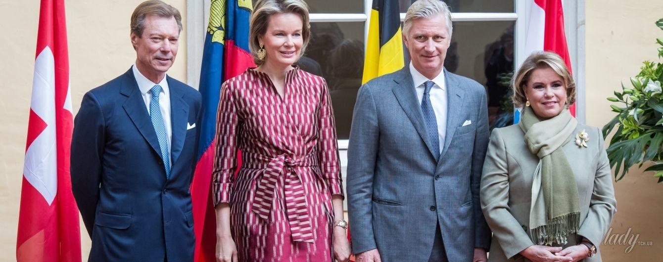 Королева Матильда затмила своим образом герцогиню Люксембургскую Марию