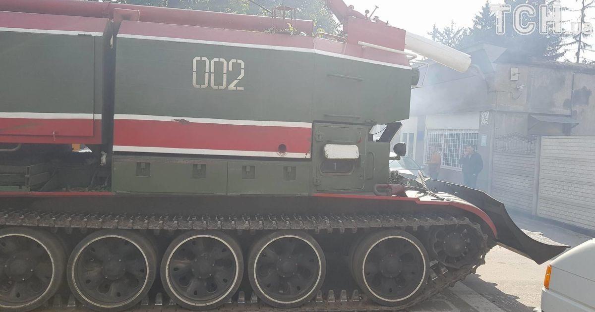 Пожарные танки в Калиновке