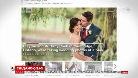 Жених спас ребенка во время свадебной фотосессии