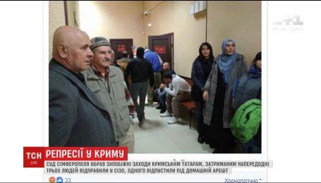 Суд Симферополя избрал меры пресечения крымским татарам, которых задержали накануне