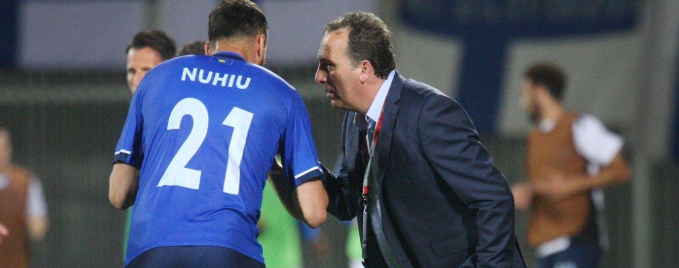 Главный тренер сборной Косово: Украина - вторая команда после Италии по физподготовке