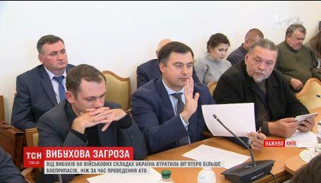 На засіданні комітету ВР розглянули дві можливі причини вибухів у Калинівці