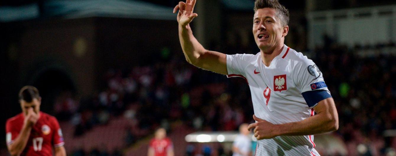 Левандовски стал лучшим бомбардиром европейского отбора ЧМ-2018