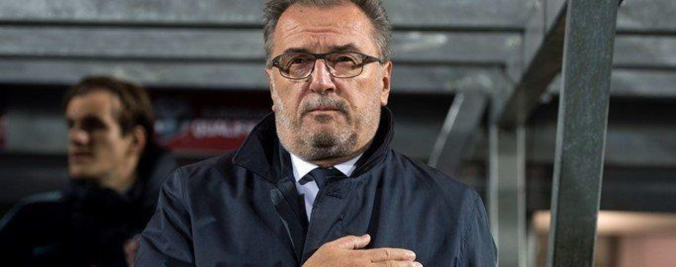 Хорватія відправила у відставку головного тренера перед грою з Україною