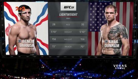 UFC. Бениель Дариуш - Эван Данхам. Видео боя