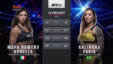 UFC. Мара Ромеро Борелли - Калиндра Фариа. Видео боя