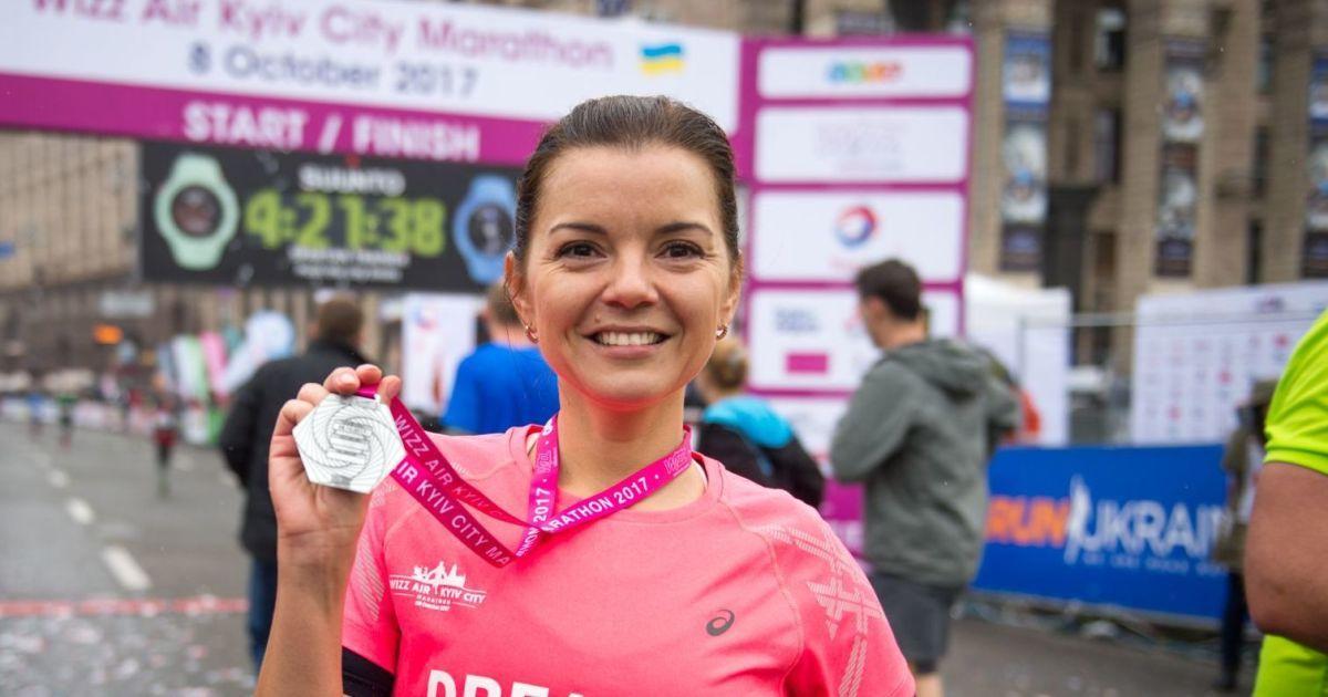 Маричка Падалко покорила первый в жизни 42-километровый марафон