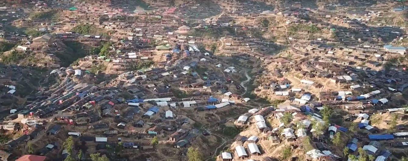 Кризис рохинджа: дрон заснял лагерь беженцев в Бангладеш