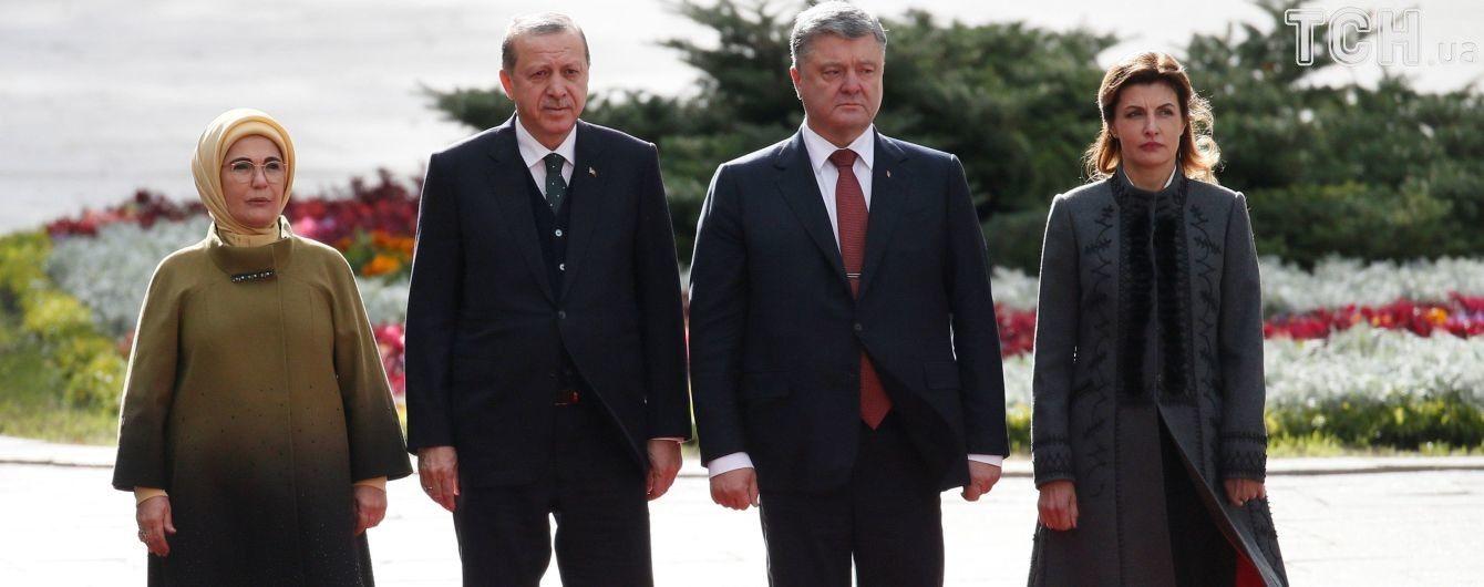 Ердоган прибув на Банкову до Порошенка і звернувся українською до військових