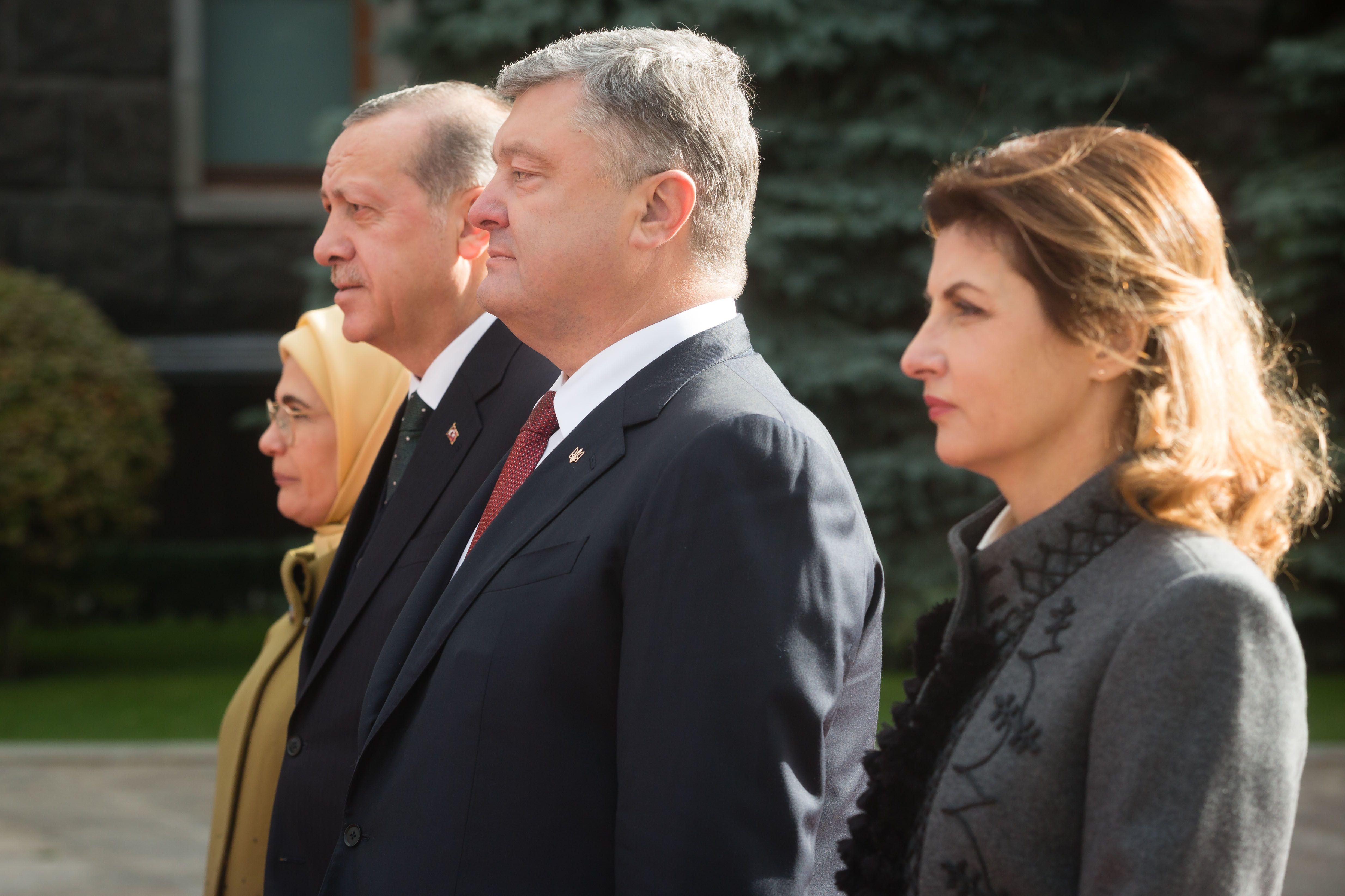 Марина Порошенко,  Петр Порошенко, Тайип Эрдоган, Эмине Эрдоган_3