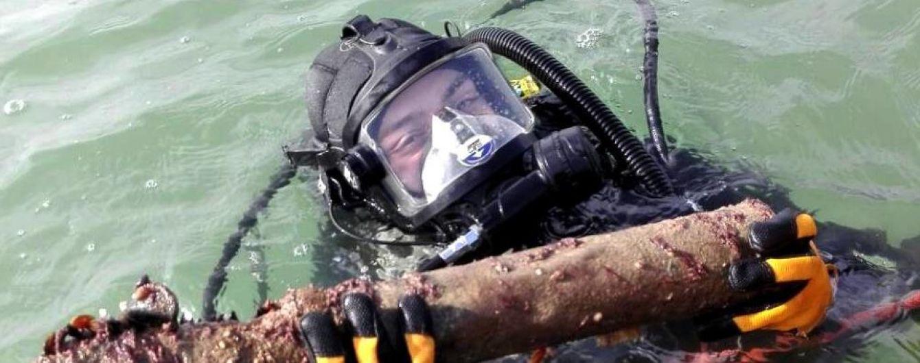 На Одесчине с затонувшего немецкого судна подняли почти 14 тысяч боеприпасов