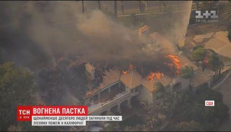 Вогняна пастка. Щонайменше десятеро людей загинули у лісових пожежах у Каліфорнії