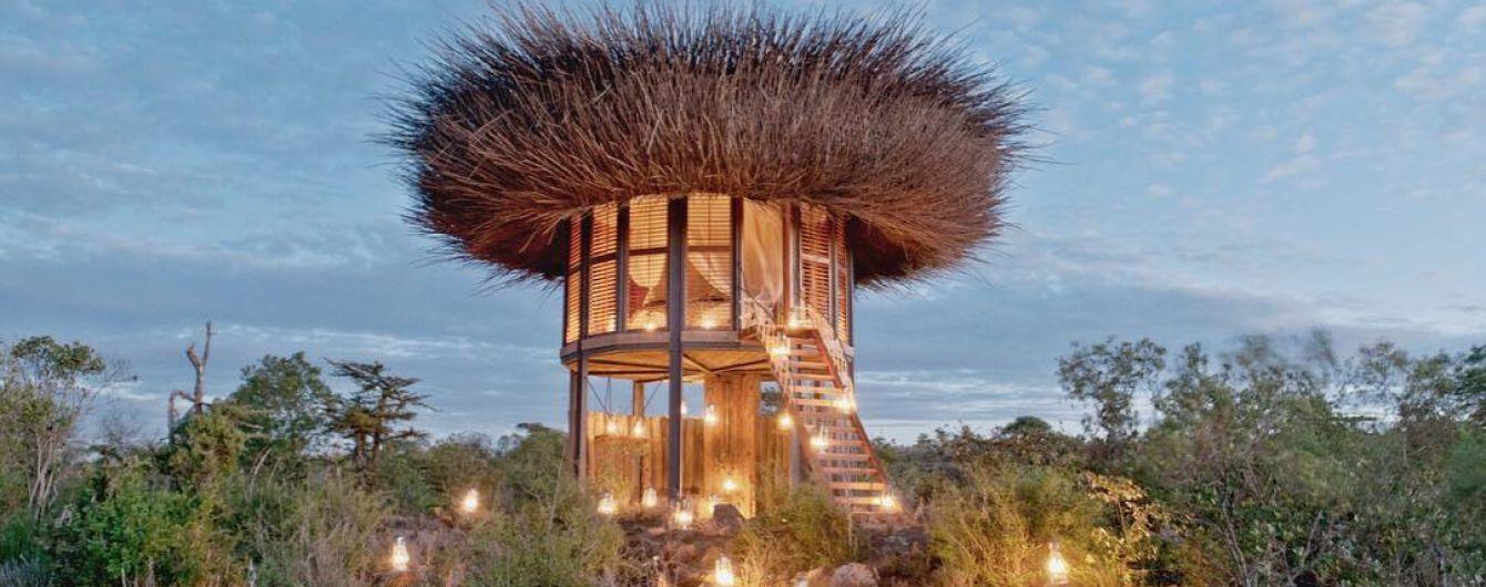 5-звездочное гнездо в Кении. Участникам сафари предлагают пожить в отеле с панорамой в 360 градусов