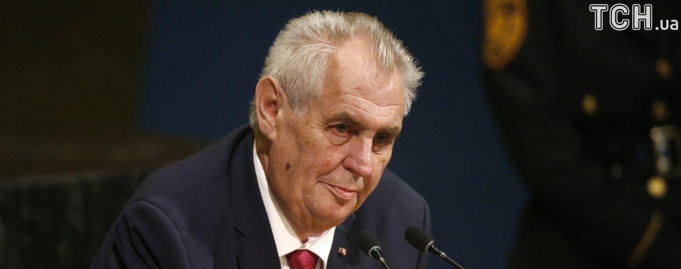 Чеського президента Земана підозрюють у тісних зв'язках із русинськими сепаратистами - ЗМІ