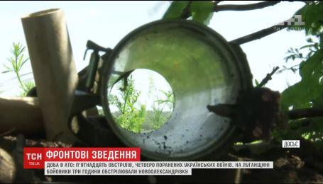 Штаб АТО сообщил о 15 обстрелах и 4 раненых за сутки