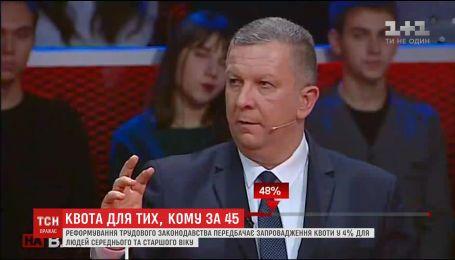 Андрей Рева рассказал, как государство обяжет работодателей брать людей в возрасте от 45 лет