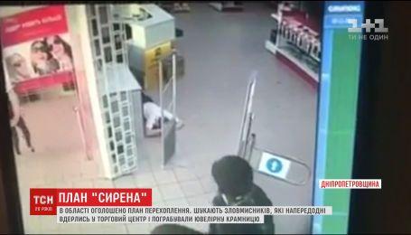 На Днепропетровщине разыскивают мужчин, которые ограбили ювелирный магазин