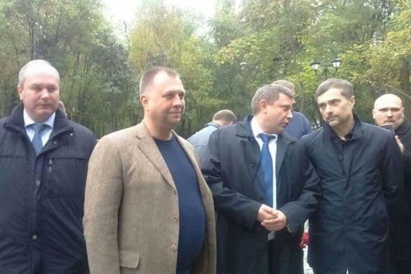 Сурков, Захарченко, Бородай на відкритті пам'ятника бойовикам у Ростові.