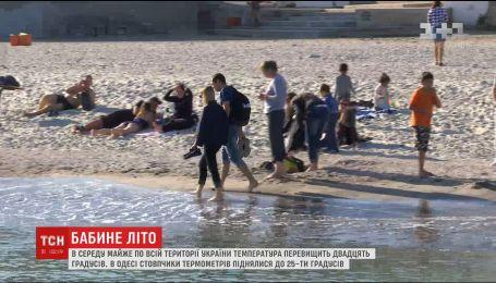 Синоптики прогнозируют температуру более 20 градусов по всей территории Украины