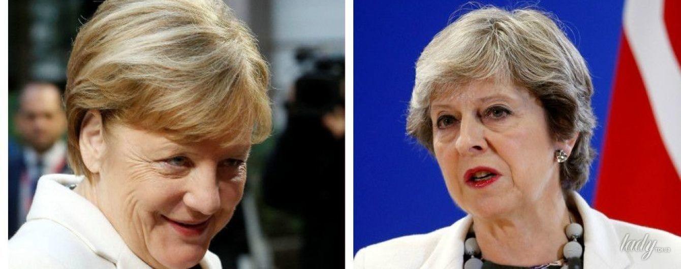Битва белых жакетов: Тереза Мэй vs Ангела Меркель