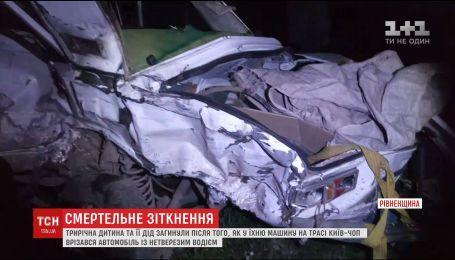 Пьяный водитель повлек за собой смертельное ДТП на трассе Киев-Чоп
