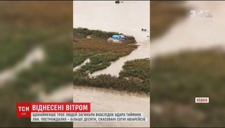 """Япония страдает от смертельного тайфуна """"Лан"""""""