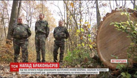 Кража с стрельбой: браконьеры обокрали лесную охрану на Житомирщине
