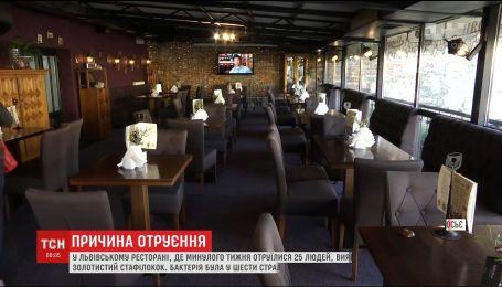 Во львовском ресторане, где отравились 25 человек, обнаружили золотистый стафилококк