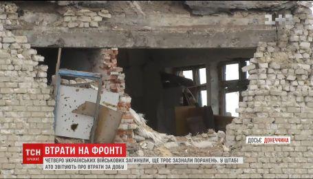Впродовж доби на фронті загинуло чотири українських воїни