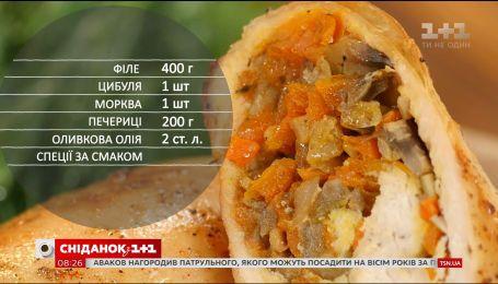 Курячі крученики з грибами - рецепти Сенічкіна