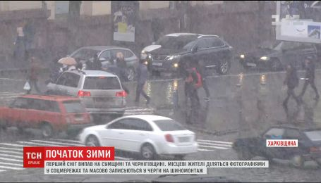 В Украине выпал первый снег