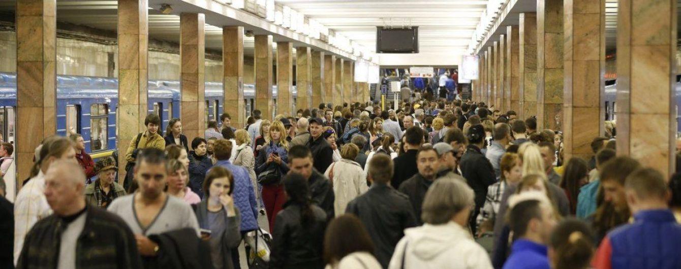 У роботі київського метро стався збій через потенційного самогубця