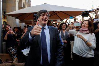 Лідер каталонських сепаратистів Пучдемон заявив, що продовжуватиме займатись політикою з Бельгії