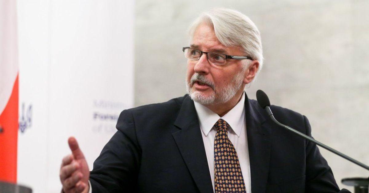 Оружие начнет поступать в Украину - глава МИД Польши