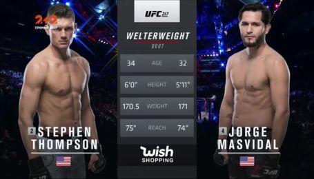 UFC. Стивен Томпсон - Хорхе Масвидал. Видео боя