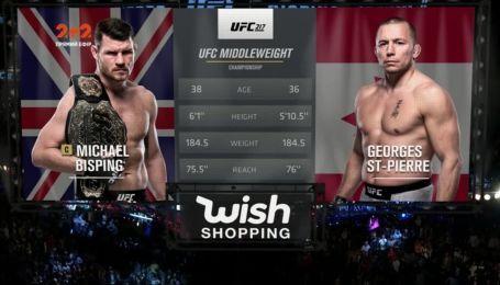 UFC. Джордж Сент-П'єр - Майкл Біспінг. Відео чемпіонського бою