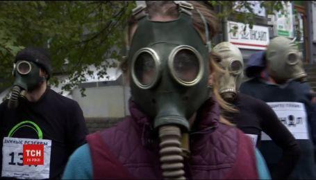 Проведение полумарафона в Запорожье пытались сорвать два десятка экологических активистов