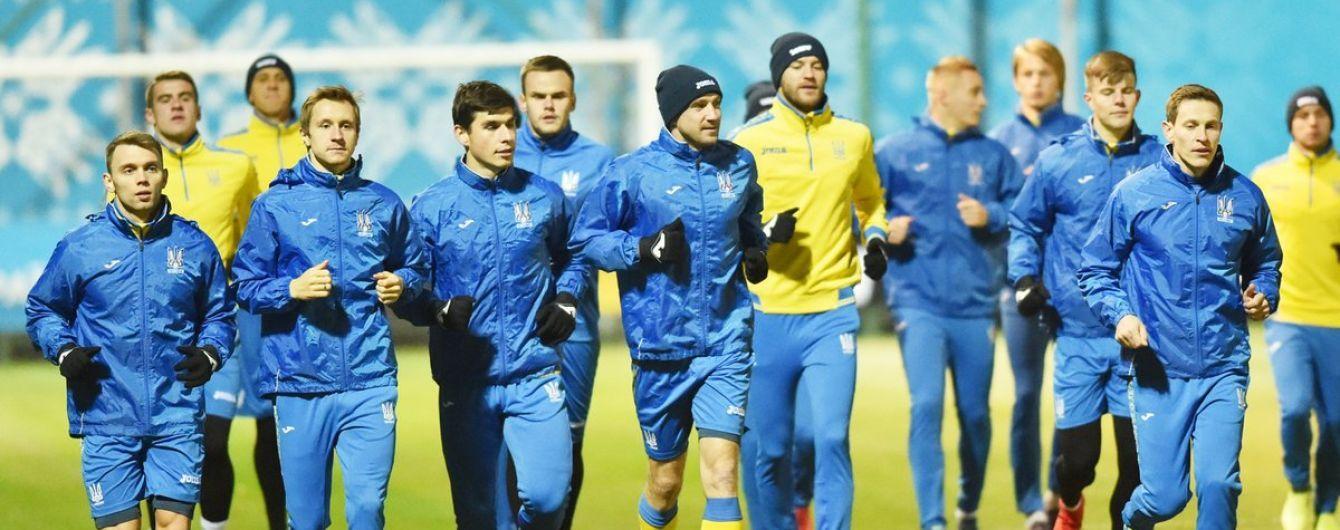 Сборная Украины потренируется для болельщиков в Киеве