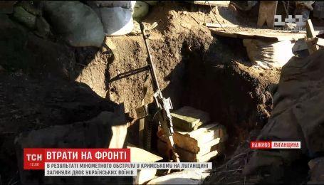 У Крымского на противопехотной мине подорвались двое военных