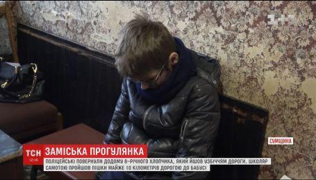 Полиция вернула домой мальчика, который сам отправился по трассе в село бабушки