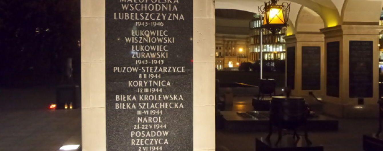 """У Варшаві на пам'ятнику вшанували вояків, які """"захищали громаду"""" від УПА"""