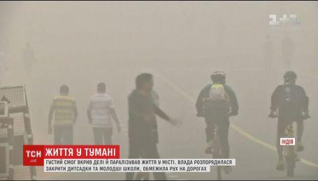 Столицу Индии накрыл густой смог