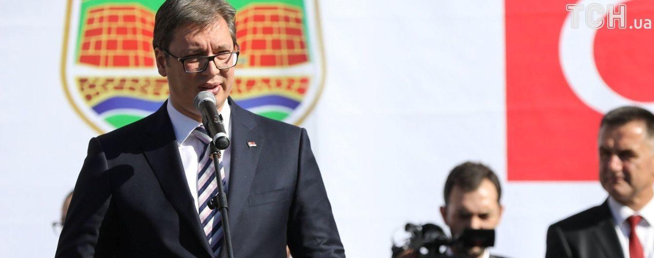 Після дипломатичного скандалу президент Сербії виступив за зниження напруженості з Україною