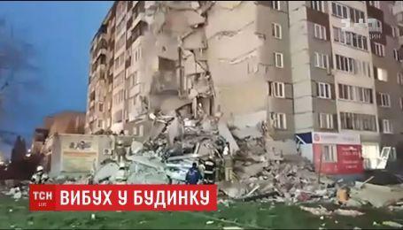 В российском Ижевске в воздух взлетела часть многоэтажки