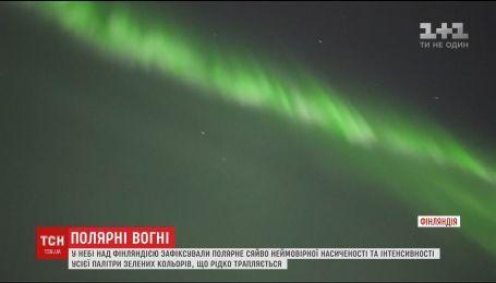 На севере сняли уникальные цвета полярного сияния