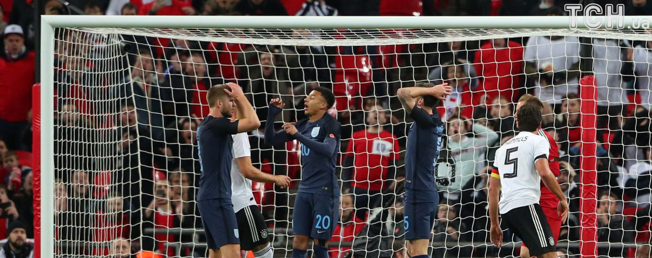 """Англия и Германия не смогли определить победителя на """"Уэмбли"""""""