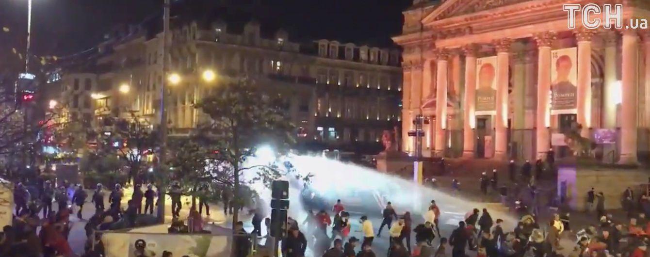 Фанати влаштували масові безлади в центрі Брюсселя після виходу збірної Марокко на ЧС-2018