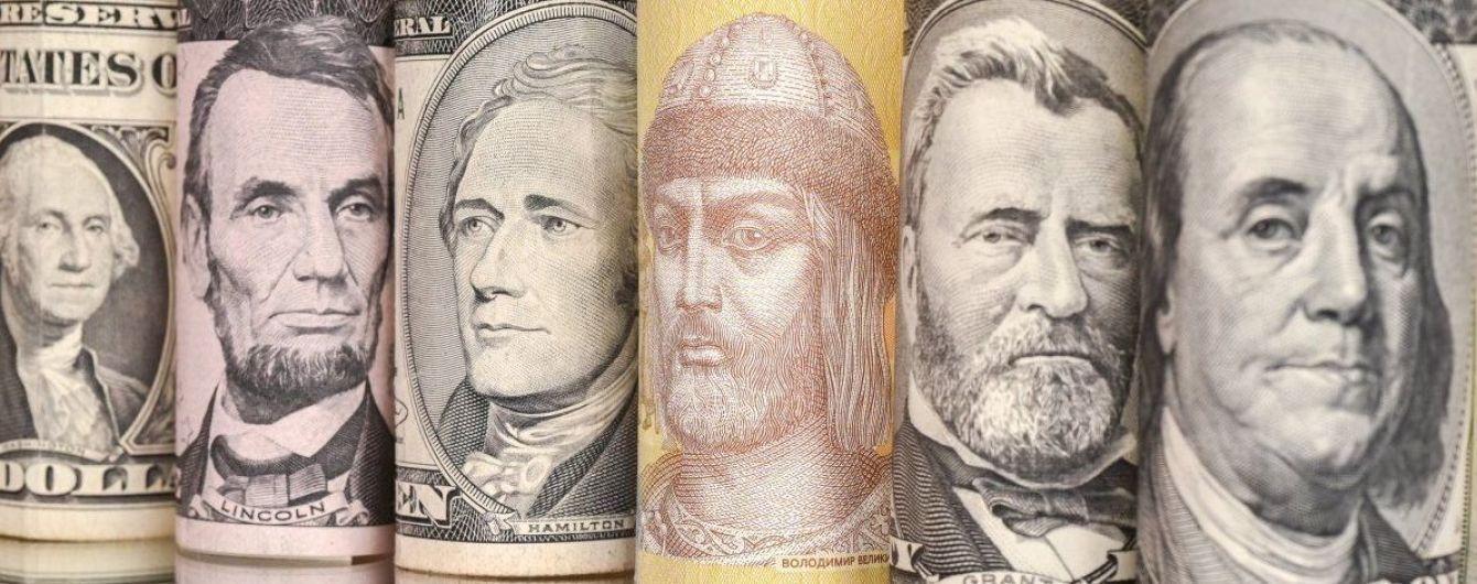 Долар перевалив за 27 гривень у курсах Нацбанку. Інфографіка