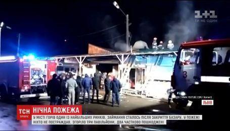 Один из крупнейших рынков Львова горел накануне